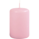 Bloklys, 4 cm, rosa, 12 stk.