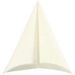 Servietter, stoflign, 40x40 cm, hvid, 20 stk.