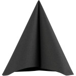 Servietter, stoflign, 40x40 cm, sort, 20 stk.