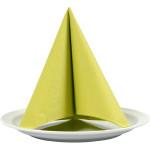 Servietter, stoflign, 40x40 cm, lime grøn, 20 stk.