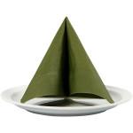 Servietter, 33x33 cm, mørk grøn, 20 stk.