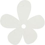 Blomst, 57x51 mm, hvid, 10 stk.