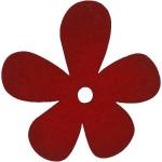 Blomst, 57x51 mm, vinrød, 10 stk.