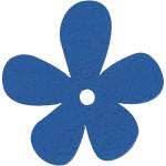 Blomst, 57x51 mm, mørk blå, 10 stk.