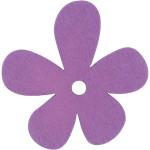 Blomst, 57x51 mm, lilla, 10 stk.