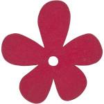 Blomst, 57x51 mm, pink, 10 stk.