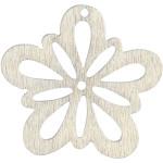Blomst, 27 mm, hvid, 20 stk.