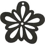 Blomst, 27 mm, sort, 20 stk.