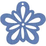 Blomst, 27 mm, lys blå, 20 stk.