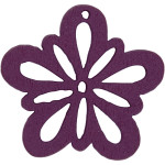 Blomst, 27 mm, mørk lilla, 20 stk.