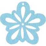 Blomst, 27 mm, lys turkis, 20 stk.