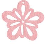 Blomst, 27 mm, rosa, 20 stk.