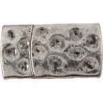 Magnetlås, 7x29 mm, antik sølv, AS, 1 stk.