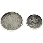 Brochenål, 18+25 mm, antik sølv, AS, 6 ass.
