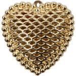 Hjerte, 28x29 mm, forgyldt, FG, 1 stk.
