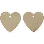 Hjerte, 16x17 mm, forgyldt, FG, 4 stk.