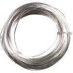 Forsølvet tråd, 0,8 mm, 6 m