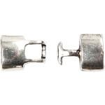 Kroglås, 30x15x7 mm, antik sølv, AS, 20 stk.