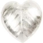 Mega Hjerte, 40x35x13 mm, børstet sølv, Sterling Silver Plated, 1 stk.