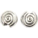 Flad spiral, 17x15x15 mm, børstet sølv, Sterling Silver Plated, 5 stk.