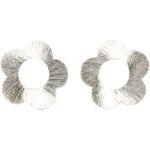 Blomst, 20 mm, børstet sølv, Sterling Silver Plated, 4 stk.