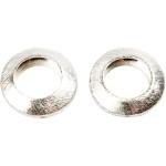 Cirkel, 20x20x6 mm, børstet sølv, Sterling Silver Plated, 3 stk.