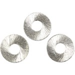 Flad Ring, 15 mm, børstet sølv, Sterling Silver Plated, 36 stk.