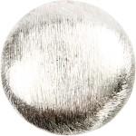 Flad perle, 25x25x8 mm, børstet sølv, Sterling Silver Plated, 2 stk.