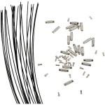 Wire med lås, 1 mm, sort, 3 stk.