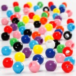 Kongo perler, 6 mm, 75 g, 125 ml