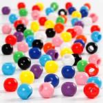 Kongo perler, 6 mm, ass. farver, 425 g, 700 ml