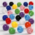Kongo perler, 8 mm, ass. farver, 415 g, 700 ml