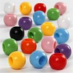 Kongo perler, 10 mm, ass. farver, 430 g, 700 ml