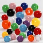 Kongo perler, 6-10 mm, ass. farver, 430 g, 700 ml