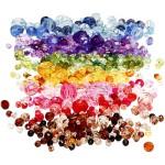Harmoni facetperlemix, 4-12 mm, ass. farver, 7x250 g