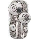 Vedhæng, 37x20 mm, antik sølv, AS, 6 stk.