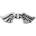Vinger, 35 mm, antik sølv, AS, 6 stk.