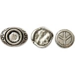 Knytteknap, 15-22 mm, antik sølv, AS, 45 ass.