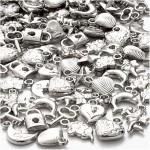 Sølvcharms, 15-20 mm, 80 g