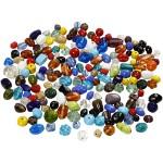 Glasperlemix, 7-18 mm, ass. farver, 1000 g
