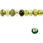 Glaslinks - harmoni, 13-15 mm, grøn harmoni, 10 ass.