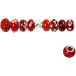 Glaslinks - harmoni, 13-15 mm, rød harmoni, 10 ass.
