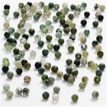 Ægte sten, 3 mm, grøn harmoni, Mosagat, 120 stk.