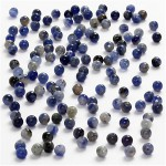 Ægte sten, 3 mm, blå, Sodalite, 120 stk.