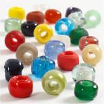 Glasperlemix, 9 mm, ass. farver, 75 g