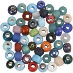 Glasperlemix, 9 mm, ass. farver, 500 g
