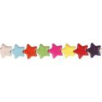 Howlite, 15 mm, stærke farver, stjerne, 32 stk.