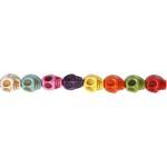 Howlite, 12 mm, stærke farver, dødningehoved, 32 stk.