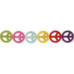 Howlite, 25 mm, stærke farver, peace, 16 stk.