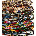 Indian beads, 5-10 mm, 30 strenge
